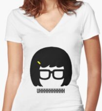 Tina Uhhhhh Women's Fitted V-Neck T-Shirt