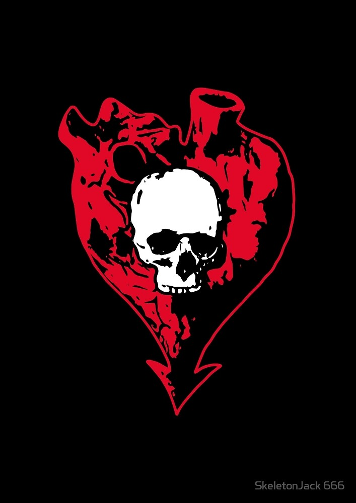 Heart and Skull by SJ-Graphics