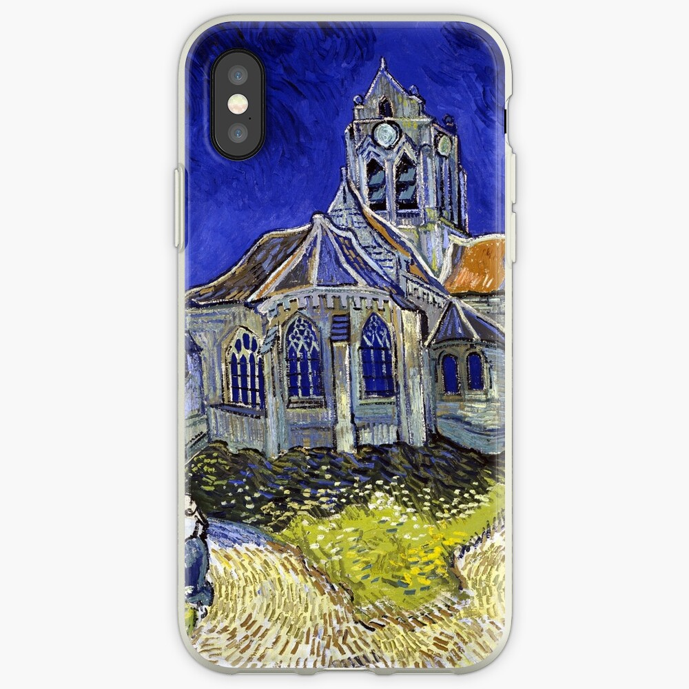 Vincent Van Gogh Die Kirche in Auvers iPhone-Hülle & Cover