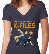 Tin Tin X-Files Women's Fitted V-Neck T-Shirt