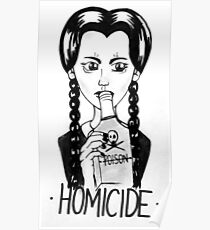 Wednesday Addams- Homicide Poster