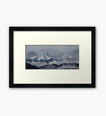 Mountains In The Clouds Framed Print