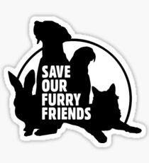 Save Our Furry Friends Logo Sticker