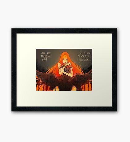 Love and Fear Framed Print