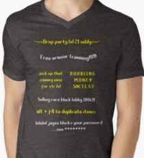 Camiseta para hombre de cuello en v Runescape estafa escuela
