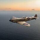 Spitfire EN152 over Gulf of Tunis by Gary Eason