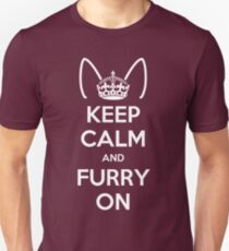 Keep Calm and Furry On Unisex T-Shirt