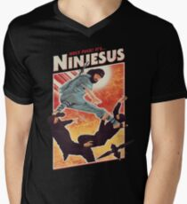 The Jesus Ninja Men's V-Neck T-Shirt