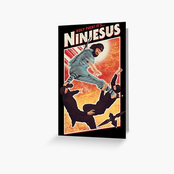 The Jesus Ninja Greeting Card