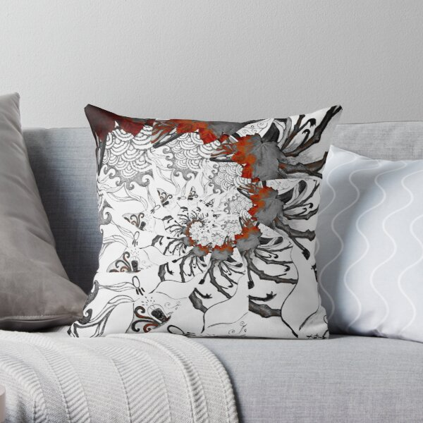 Swirling Patterns Throw Pillow