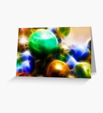 Coloured orbs Greeting Card