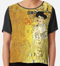 The Woman in Gold Chiffon Top