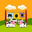 Laundy Cows by Sonia Pascual