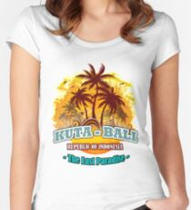 Kuta-Bali The Last Paradise Women's Fitted Scoop T-Shirt