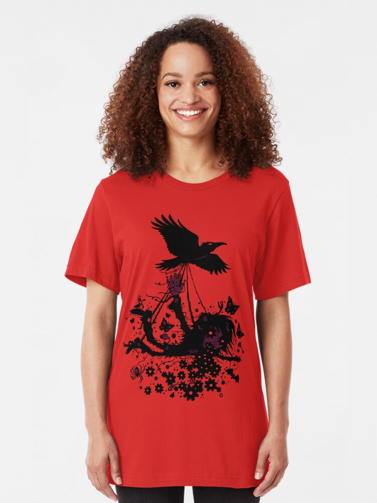 Alternate view of Strange Trip Through The Sky Slim Fit T-Shirt