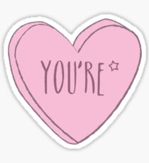 You're Correction Heart Sticker