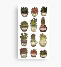 Cacti with social issues Canvas Print