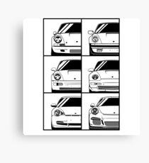 Sports family. Porsche 911 Canvas Print
