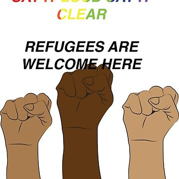 refugees are welcome here. by cliffovevo