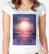 Space Between Dreams & Reality Women's Fitted Scoop T-Shirt