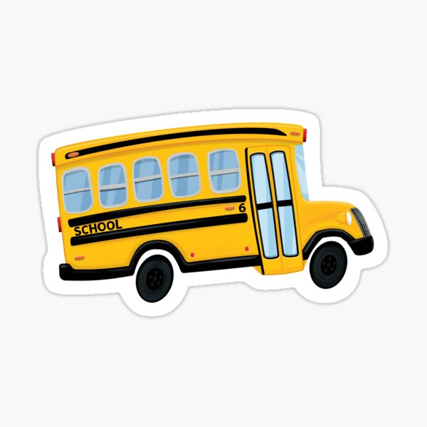 Cute Yellow School Bus Sticker Sticker