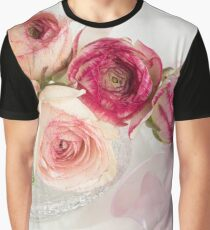 Pretty Rununculus in a Glass Vase Graphic T-Shirt