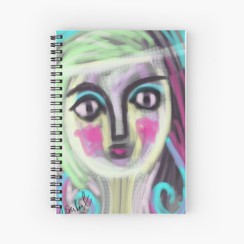 Blushing Girl by Julie Everhart Spiral Notebook