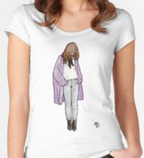 Cozy Cardigan Fitted Scoop T-Shirt