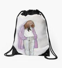 Cozy Cardigan Drawstring Bag