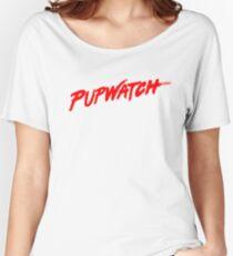 PupWatch Red Women's Relaxed Fit T-Shirt