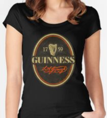 VINTAGE GUINNESS LOGO Women's Fitted Scoop T-Shirt