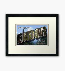 Endor Postcard Framed Print
