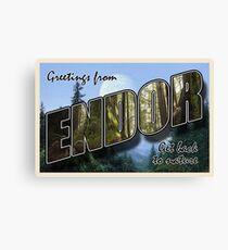 Endor Postcard Canvas Print