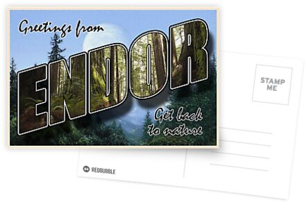 Endor Postkarte von cjrobbins