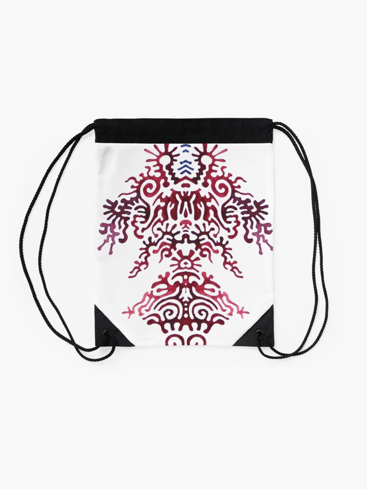 Alternate view of this has no title yet Drawstring Bag