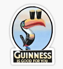 VINTAGE GUINNESS TOUCAN Sticker