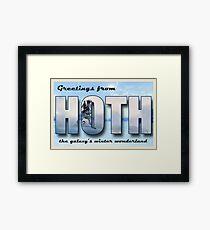 Hoth Postcard Framed Print