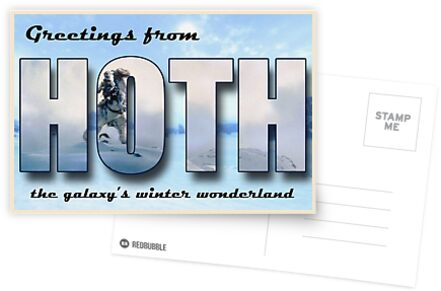 Hoth Postkarte von cjrobbins