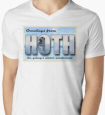Hoth Postcard Men's V-Neck T-Shirt
