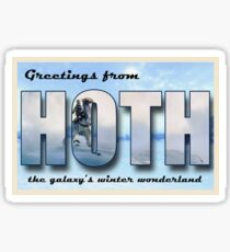 Hoth Postcard Sticker