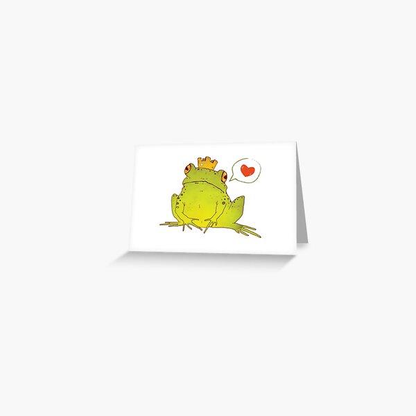Froschkönig Grußkarte