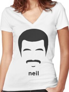 neil degrasse tyson Women's Fitted V-Neck T-Shirt