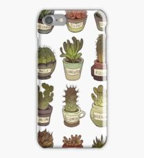 Cacti with social issues iPhone Case/Skin