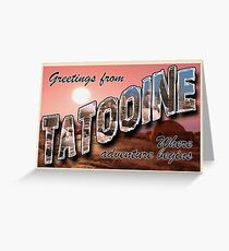 Tatooine Postcard Greeting Card