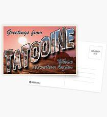 Tatooine Postkarte Postkarten