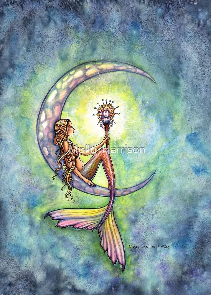 """""Mermaid Moon"" Mermaid Art by Molly Harrison"" by Molly ..."