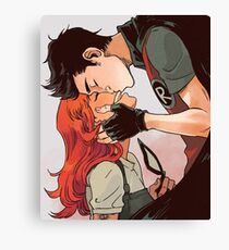 Robin and Starfire Canvas Print