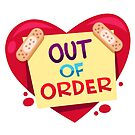 ##digistickie Heart Out of Order by MissChatZ