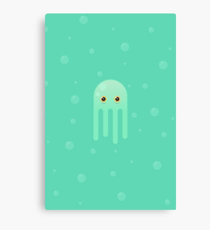 Lime Jellyfish Canvas Print