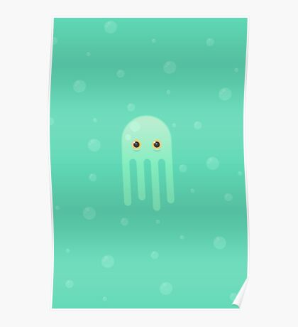 Lime Jellyfish Poster